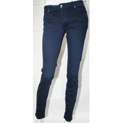 WOMEN'S JEANS BLUE COTTON STRETCH SCRATCH TG 42 44
