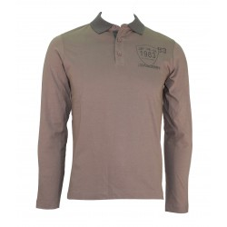 POLO MEN LONG SLEEVE ART. C53111 CRANBERRY