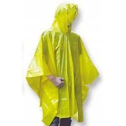 PONCHO WATERPROOF ADULT YELLOW DISPOSABLE 00541