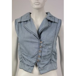 VEST WOMAN DENIM SUMMER DEEROSE