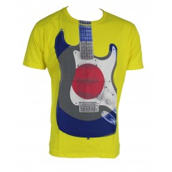 T-SHIRT GUITAR YELLOW MR FREEDOM