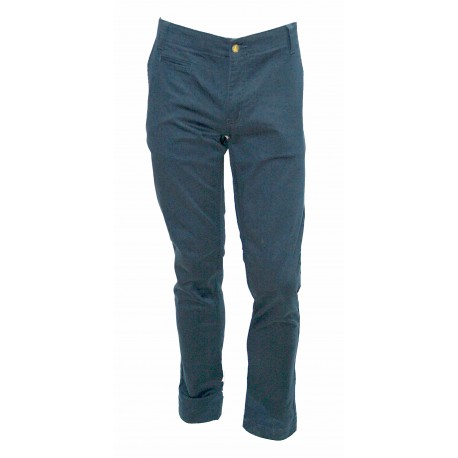 PANTALONI UOMO MONKEE GENES INVERNALI HARRY-BRUSHED SATEEN NAVY TG. 28 30 34 36