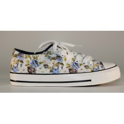 FLOWERED LOW SNEAKERS WOMAN