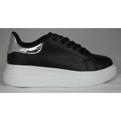 SNEAKERS WOMAN LOW BLACK HALF SEASON WITH WEDGE Z7111-7