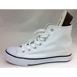 HIGH TOP SNEAKERS WHITE WOMAN DREAM SHOES S011