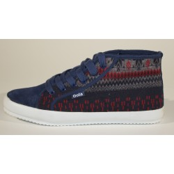 Shoe Gola Release Fair Isle Cla 159 Navy/Multi